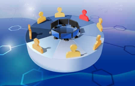 webinar: abstract concept webinar illustration, gradient mesh and transparency used