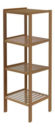 craft product: wooden shelf on white background Illustration