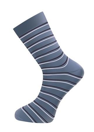 calcetines: hombre realista de calcetines sobre fondo blanco