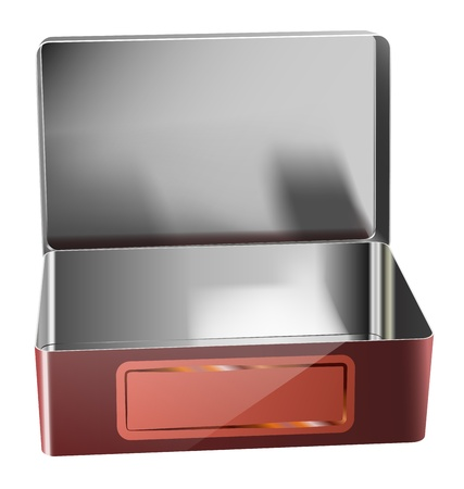 vector realistic metal container on white background