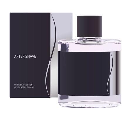 realistic after shave lotion Vector