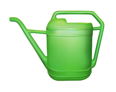 watering can: realistic garden can on white background, gradient mesh used Illustration