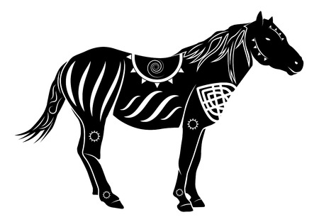 Vector Chinese Style Horse Silhouette Vector