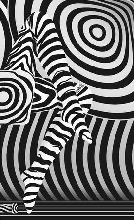 mujeres fashion: Vectorial Sexy ligs en rayas de la cebra de la media concepto abstracto, vector eps10, la transparencia utilizada
