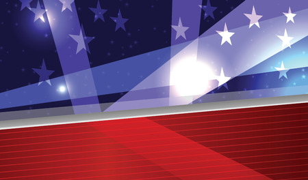 patriotic background: Vector Abstract American Patriotic Festive Background, Eps 10, Transparency used Illustration