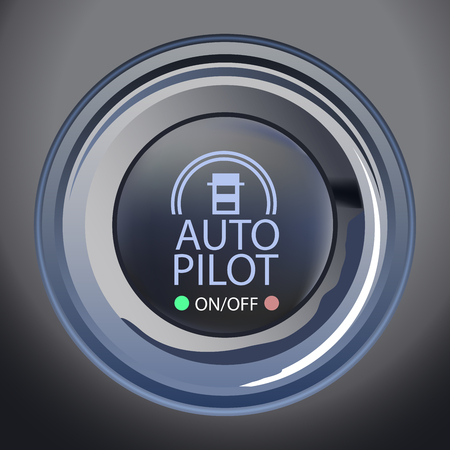 A Vector Illustration of Autopilot Button, Eps10 Vector, Transparency and Gradient Mesh Used