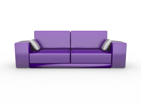a 3d rendered sofa isolated on white photo