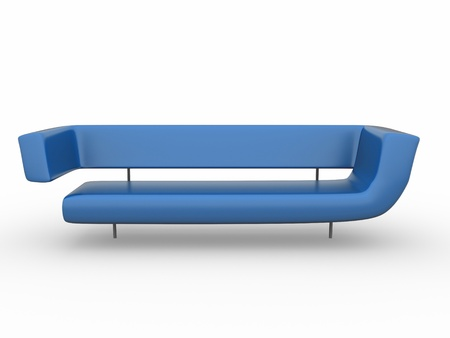 postmodern: a 3d rendered sofa isolated on white