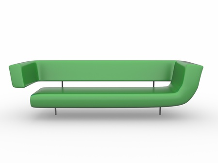 a 3d rendered sofa isolated on white