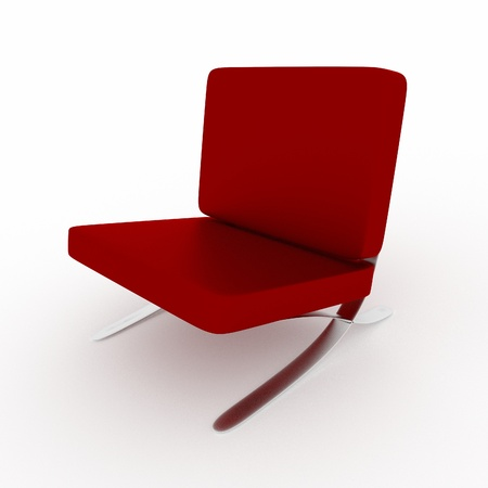 a 3d rendered chair isolated on white
