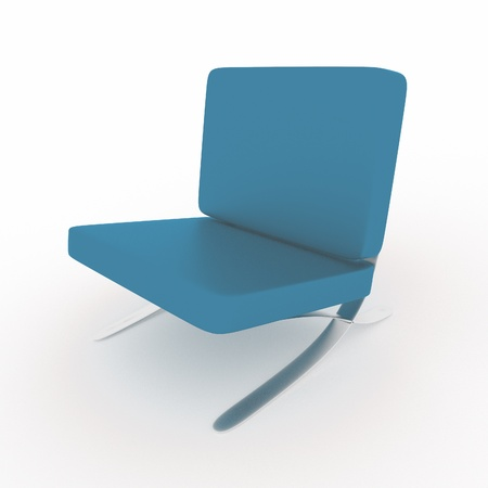 a 3d rendered chair isolated on white photo