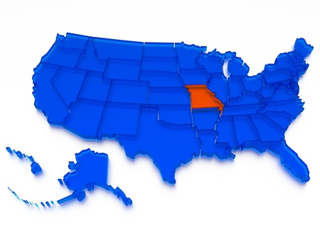 southwest: 3D map of USA