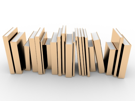 Gold books in a row Stock Photo