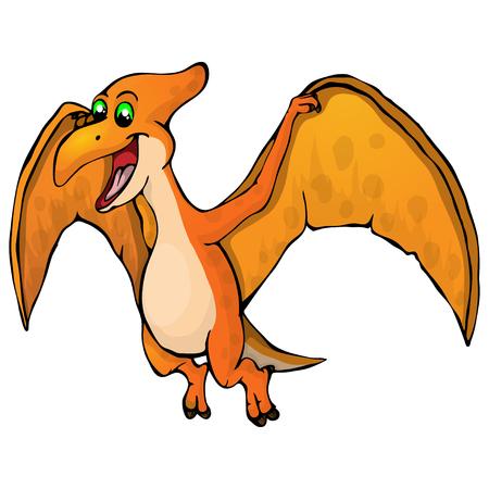 Isolated illustration of a cartoon dinosaur Illustration
