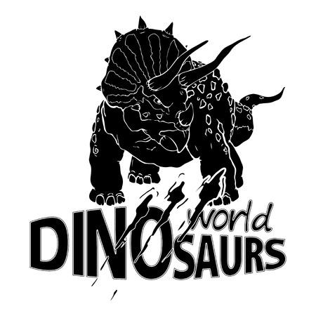 Logo World of Dinosaurs. Vector illustration. Illustration