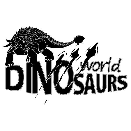 World of Dinosaurs emblem design Illustration