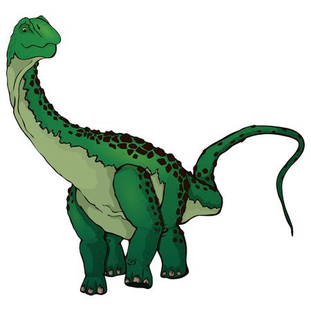 Cute cartoon Diplodocus vector illustration  イラスト・ベクター素材