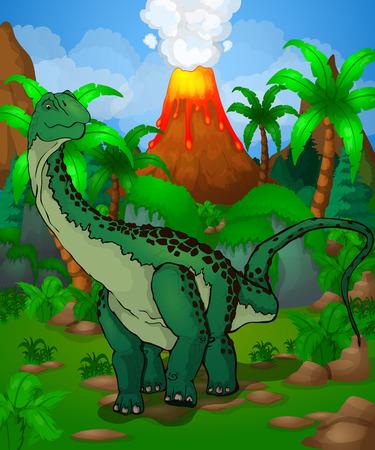 漫画恐竜のベクターイラスト。  イラスト・ベクター素材