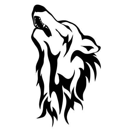 Isolated illustration of the wolfs head