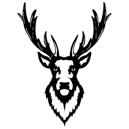 Isolated illustration of a deer head Stock Vector - 96519355