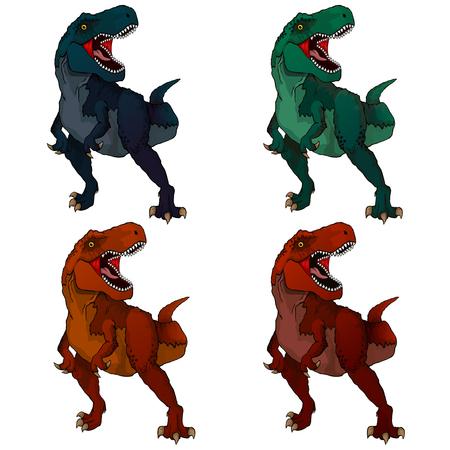 Ilustración aislada de un tiranosaurio de dibujos animados Ilustración de vector