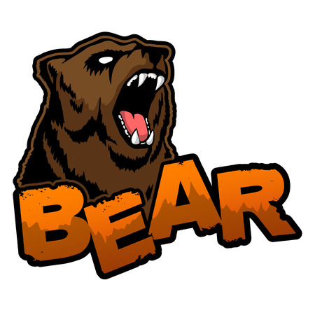 Bear icon on a white background vector illustration.