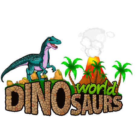 Dinosaurs World. Vector illustration.