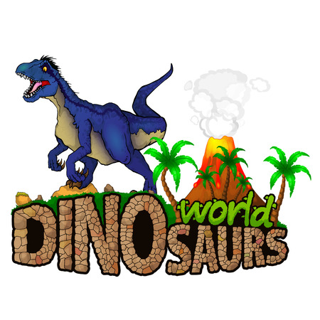 Logo Dinosaurs World. Vector illustration. 일러스트