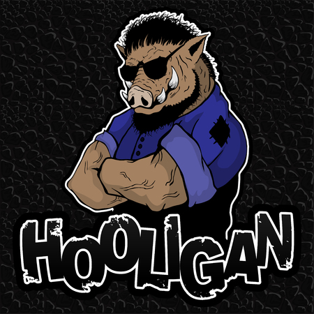 Boar-hooligan on the texture of the skin.
