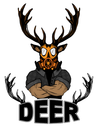 Steep fashionable deer Hipster animal.