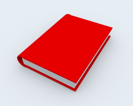 3D rendered red book on white surface Stock Photo - 9085181