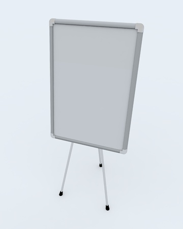 White office presentation board on white background Stock Photo - 9085175