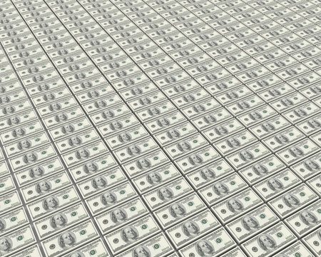 A lot of stacks of dollars Stock Photo - 9085234