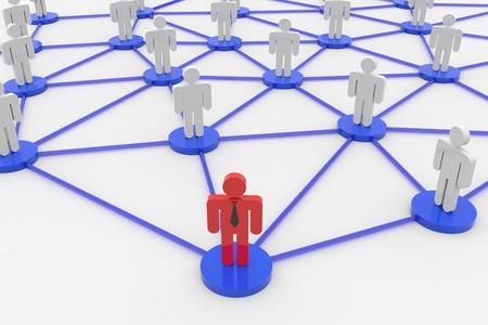 ビジネスやソーシャル ネットワークの 3 D レンダリング イメージ 写真素材