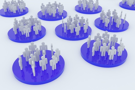 3D rendering image of business or social networks photo