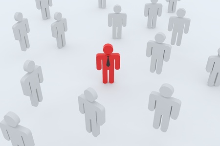 People or Employee Search. 3D render image. Concept. photo