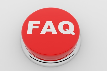 A red button with the word FAQ on it Stock Photo - 9257853