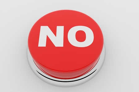 A red button with the word NO on it Stock Photo - 9257850