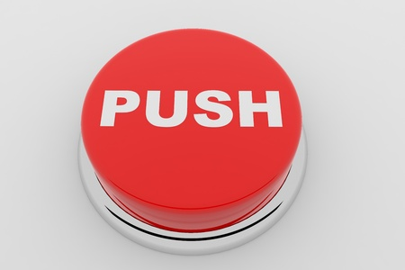 A red button with the word PUSH on it Stock Photo - 9257854