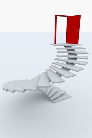 Stairway to the top.  3D image. photo