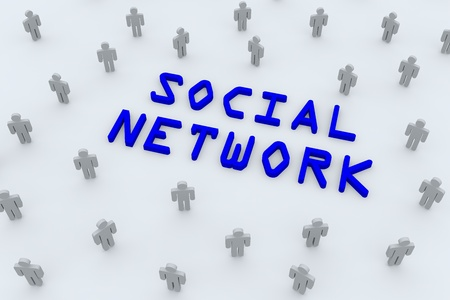 Concept image representing social networks, communications. photo