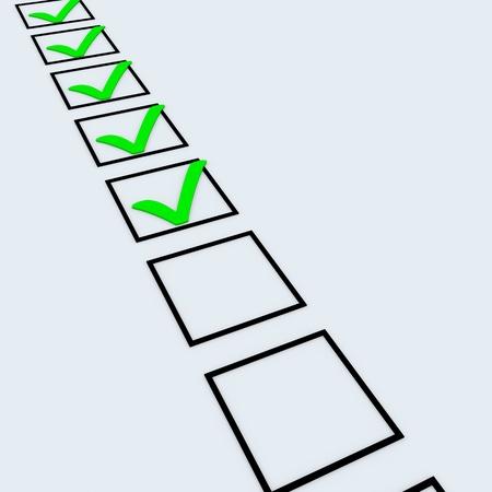 Checklist of completed tasks. 3D render image. Stock Photo - 9442202