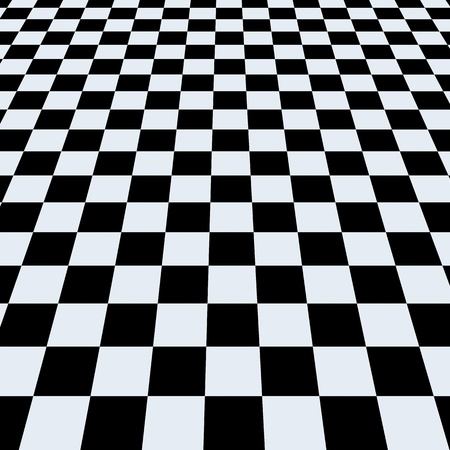 Checkerboard background. Perspective View photo
