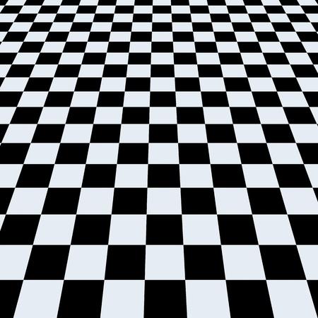 tablero de ajedrez: Fondo de tablero de ajedrez. Vista en perspectiva