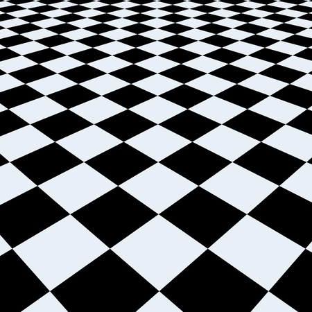 tiles floor: Checkerboard background. Perspective View Stock Photo