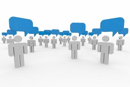 人が話しています。グローバル コミュニティの概念。コンピューター生成イメージ。