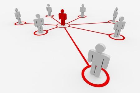 Zakelijke of sociale netwerk. Concept. Computer gegenereerde afbeelding.