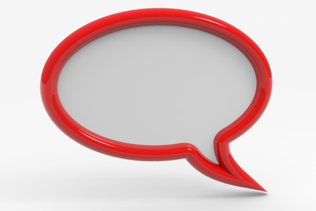 Bubble talk. Computer generated image. Stock Photo - 10504540