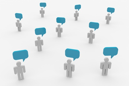 People talking. Concept of global community. Computer generated image. Stock Photo - 10551927
