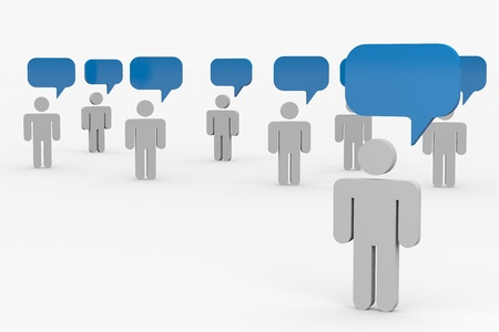 People talking. Concept of global community. Computer generated image. Stock Photo - 10551938